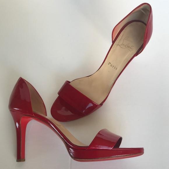 4597df7efcb Christian Louboutin Shoes - Christian Louboutin Red Patent High Heels 39.5